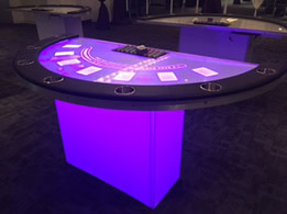 Lighted Black Jack Table
