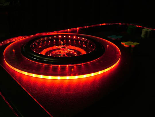 lighted roulette wheel