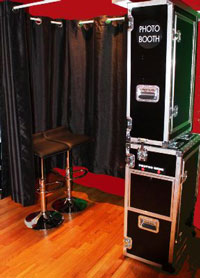 snapflash photo booth for parties and casino nights