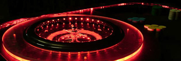 Lighted casino tables for rent